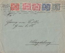 DR Brief Mif Minr.2x 317,318A, 2x 319A Berlin 1.11.23 - Deutschland