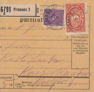DR Paketkarte Mif Minr.171,174a Pirmasens Geprüft - Deutschland