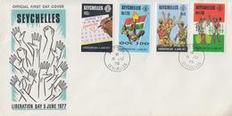 Enveloppe  FDC   1er  Jour    SEYCHELLES   1er  Anniversaire  De   La   Libération   1978 - Seychelles (1976-...)
