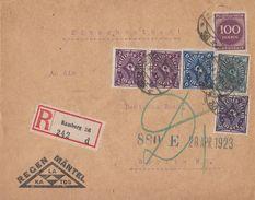 DR R-Brief Mif Minr.209,2x 224,228,230,268 Hamburg 27.4.23 - Deutschland