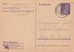 DR Ganzsache P312/02 Calbe 24.5.43 - Briefe U. Dokumente