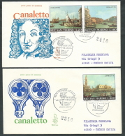 1971 SAN MARINO FDC VENETIA 119 CANALETTO TIMBRO ARRIVO - KS20 - FDC