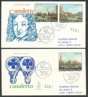 1971 SAN MARINO FDC VENETIA 119 CANALETTO TIMBRO ARRIVO - KS20-2 - FDC