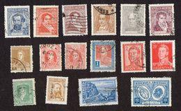 43x Stamps -lot - Argentina. - Brésil