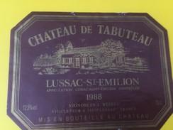 4722 - Château De Tabuteau 1988 Lussac-St-Emilion - Bordeaux