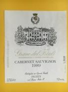 4723 - Grave Del Friuli Cabernet Sauvignon 1989 Pighin Italie - Etiquettes