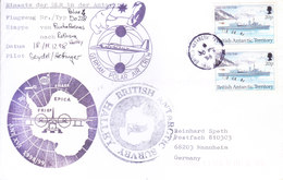BRITISH ANTARCTIC TERRITORY - EXPEDITION COVER 1998, SPECIAL CANCELLATIONS, GERMAN POLAR AIR CREW MARKING - British Antarctic Territory  (BAT)