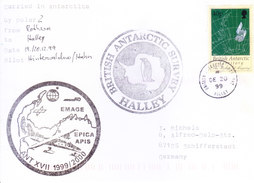 BRITISH ANTARCTIC TERRITORY - EXPEDITION COVER 1999, SPECIAL CANCELLATIONS, HALLEY, WITH EXPEDITION INFORMATIONS - British Antarctic Territory  (BAT)