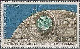 """Französische Gebiete  Antarktis 27 """"Erste Fernseh-Direktübertragung Amerika-Europa Durch Telstar"""" MNH / ** / Postfrisch - Briefmarken"""