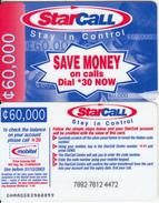 GHANA - People On Phone, StarCall By Mobitel Prepaid Card C60000, Exp.date 31/12/03, Used - Ghana