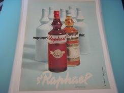 ANCIENNE PUBLICITE APERITIF ST RAPHAEL ROUGE EXPORT - Alcools