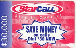 GHANA - People On Phone, StarCall By Mobitel Prepaid Card C30000, Exp.date 31/12/03, Used - Ghana