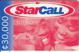 GHANA - People On Phone, StarCall By Mobitel Prepaid Card C30000, Exp.date 30/06/01, Used - Ghana