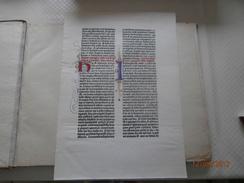 Seite Aus Der 42 Zeiligen Bibel Gutenbergs Mainz 1452-55 (Jubiläum 500 Jahre)(1955) - Manuskripte
