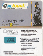 GHANA - Stop AIDS Love Life, OneTouch Prepaid Card 30 Units(paper), Used - Ghana