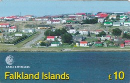 Falkland Islands, £10, Panorama View Of Stanley, Puzzle 07 Of 16, Only 2.500 Issued, 2 Scans.  Please Read. - Falkland Islands