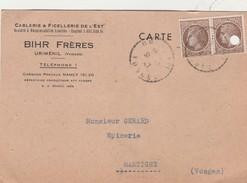 Carte Commerciale 1947 / BIHR Frères / Cablerie & Ficellerie De L' Est / 88 Uriménil Vosges - Cartes