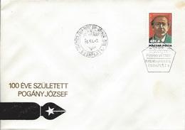 HUNGARY - 1986. FDC - Journalist,Martyr Jozsef Pogany II. Mi:3845. - FDC