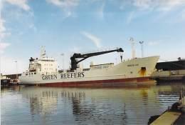 ** Lot 2 Photos ** PHOTO (1980-2000) Bateau Cargo Merchant Ship Tanker : GREEN ICE Green Reefers  (Kodak +/- 15 X 10 Cm) - Schiffe
