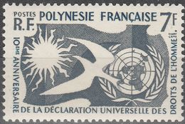 """Französisch Polynesien 14 """"10.Jahrestag Der Allgemeinen Erklärung Der Menschenrechte"""" MNH / ** / Postfrisch - Französisch-Polynesien"""
