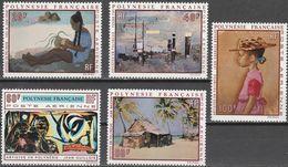 """Französisch Polynesien 121-5 """"Gemälde Polynesischer Künstler"""" MNH / ** / Postfrisch - Französisch-Polynesien"""