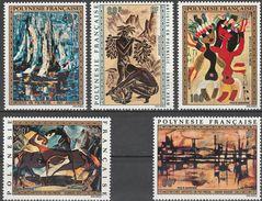 """Französisch Polynesien 158-62 """"Gemälde Polynesischer Künstler"""" MNH / ** / Postfrisch - Französisch-Polynesien"""