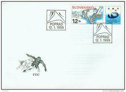 FDC 169 SLOVAQUIE 1999 Mi 329 Yv 286 19° Jeux Universitaires  D' Hiver à POPRAD TATRY :  Snowboard - FDC