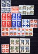 1957-58  Lot De Bloc De 4, Entre 669 Et 1123**, Cote 26 €, Avec Paires Europa - Frankreich