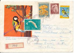 Romania Uprated Postal Stationery Sent To Switzerland 26-3-1962 - Entiers Postaux