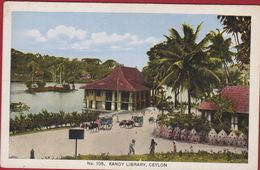 Sri Lanka Ceylon Kandy Library Old Postcard Asia Asie Azie - Sri Lanka (Ceylon)