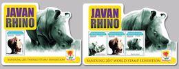GUINEA 2017 - Javan Rhinoceros. M/S + S/S. Official Issue - Rhinozerosse