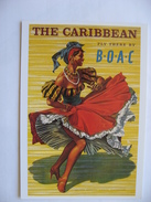 -  Carte Non écrite  - Caribbean Danseuse En 1956  Reproduction Affiche - Advertising