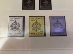 Vatican City Sede Vacante Mnh 1963 - Unused Stamps