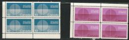 CANADA 1970 SCOTT513**-514** CORNER BLOCKS - Unused Stamps