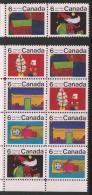 CANADA 1970 SCOTT 524**,528** SE-TENANT - 1952-.... Reign Of Elizabeth II