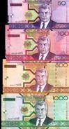 TURKMENISTAN 50 100 500 1000 MANAT 2005 P.17a-20a UNC SET [TM210a-213a] - Turkmenistan