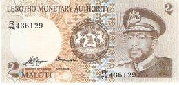 LESOTHO 2 MALOTI 1979 PICK 1a UNC RARE - Lesoto
