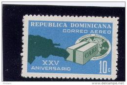 DOMINICAN REPUBLIC  1971  MNH # C185 Map Of Dominican Republic   CARE  Package  MNH - Dominicaine (République)