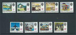 Seychelles 1969 History Definitives 9 Values 5c - 85c MNH - Seychelles (...-1976)
