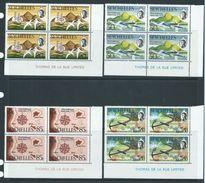 Seychelles 1970 St Anne Settlement Anniversary Set Of 4 MNH As Imprint Blocks Of 4 - Seychelles (...-1976)