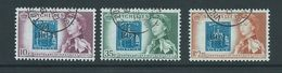 Seychelles 1961 Post Office Stamp Anniversary Set Of 3 VFU - Seychelles (...-1976)