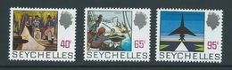Seychelles 1972 Island History Definitives Later Issued 40c / 65c / 95c MNH - Seychelles (...-1976)