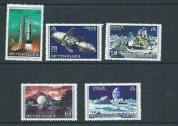 Seychelles 1969 Apollo Moon Landing Space Set Of 5 MNH - Seychelles (...-1976)