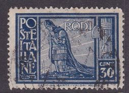 Italy-Colonies And Territories-Aegean General Issue-Rodi S60 1932 Pictorials Perf 14 30c Dark Blue Used - Italy