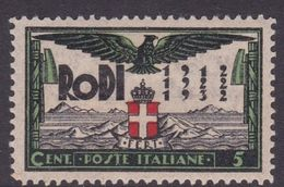 Italy-Colonies And Territories-Aegean General Issue-Rodi S65 20th Anniversary Of The Italian Occupation,5c Black & Green - Italy