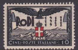 Italy-Colonies And Territories-Aegean General Issue-Rodi S66 20th Anniversary Of The Italian Occupation,10c Black & Blue - General Issues