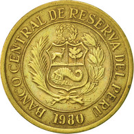 Pérou, 10 Soles, 1980, Lima, TTB, Laiton, KM:272.2 - Pérou