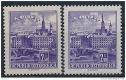 **Österreich Austria 1962 ANK 1104 X+y Mi 1118 (2) Paper Gelb+weiß Bauten Building Danube Bridge Linz MNH - 1961-70 Ungebraucht