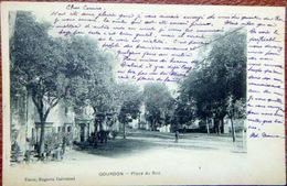 46 GOURDON PLACE DU ROC VOYAGE 1904 CARTE PIONNIERE - Gourdon