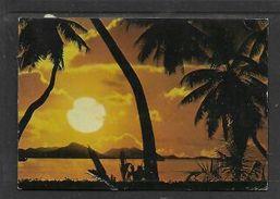 Seychelles , Sunset Over Praslin, Used  1980 > S.Africa - Seychelles